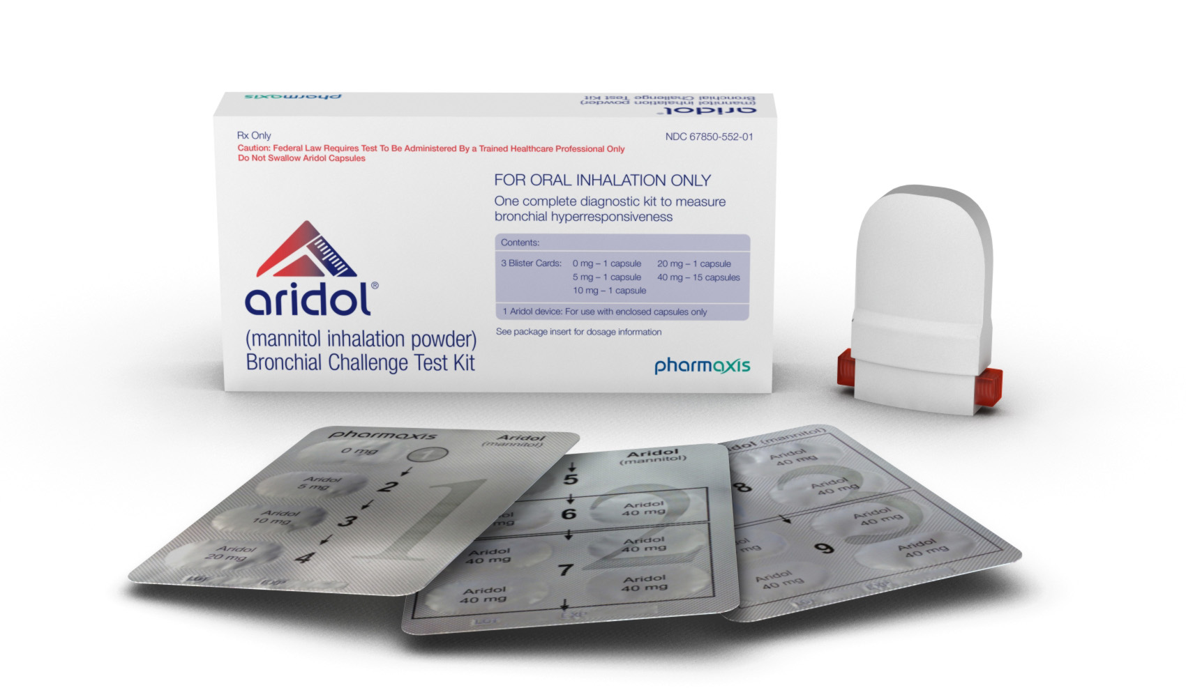 Aridol (mannitol inhalation powder) Bronchial Challenge Test Kit